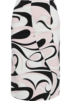 Emilio Pucci Woman Printed Stretch-cady Pencil Skirt Pastel Pink
