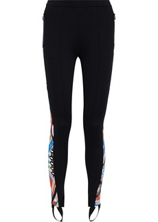 Emilio Pucci Woman Printed Stretch-ponte Stirrup Leggings Black