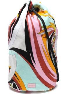 Emilio Pucci Woman Printed Terry Beach Bag Mint