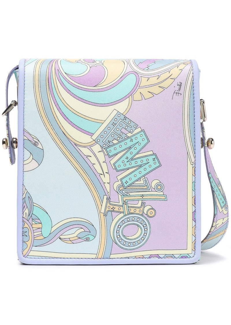 Emilio Pucci Woman Printed Twill Shoulder Bag Lilac