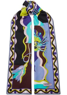 Emilio Pucci Woman Printed Wool And Silk-blend Twill Scarf Multicolor