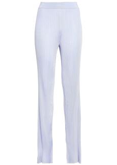 Emilio Pucci Woman Ribbed-knit Bootcut Pants Lilac