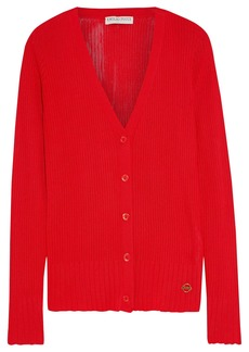 Emilio Pucci Woman Ribbed-knit Cardigan Red
