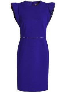 Emilio Pucci Woman Print-trimmed Stretch-jersey Mini Dress Royal Blue