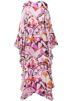 Emilio Pucci Woman Ruffled Printed Silk-georgette Maxi Dress Pink