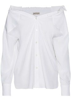 Emilio Pucci Woman Shirred Silk Crepe De Chine Shirt White