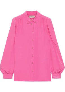 Emilio Pucci Woman Silk Crepe De Chine Shirt Bright Pink