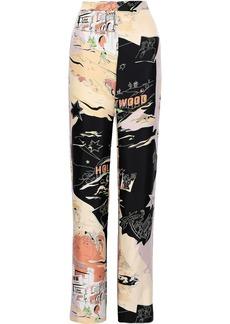 Emilio Pucci Woman Silk-twill Wide-leg Pants Beige
