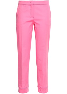 Emilio Pucci Woman Stretch-cotton Tapered Pants Pink