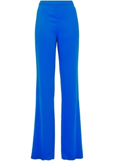 Emilio Pucci Woman Stretch-crepe Straight-leg Pants Blue