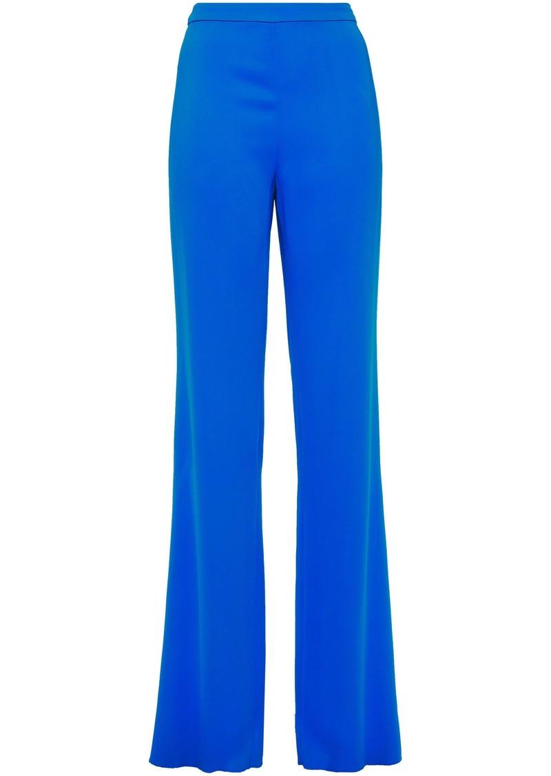 Emilio Pucci Woman Stretch-crepe Straight-leg Pants Blue