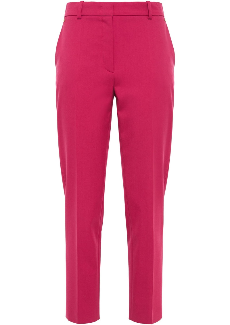 Emilio Pucci Woman Stretch-wool Twill Tapered Pants Magenta