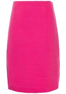 Emilio Pucci Woman Wool And Silk-blend Crepe Pencil Skirt Fuchsia