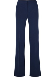 Emilio Pucci Woman Wool-blend Crepe Flared Pants Navy