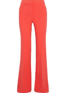 Emilio Pucci Woman Wool-blend Crepe Flared Pants Tomato Red