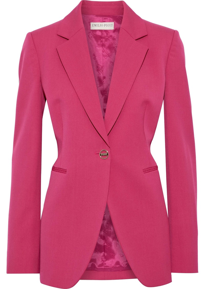 Emilio Pucci Woman Wool-blend Twill Blazer Magenta