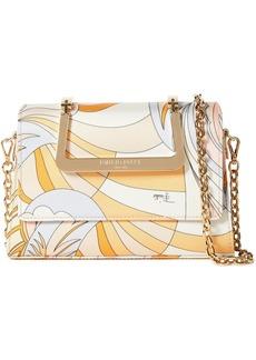 Emilio Pucci Woman Zenzi Printed Twill Shoulder Bag Pastel Orange