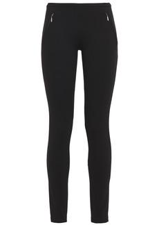 Emilio Pucci Woman Zip-detailed Ponte Leggings Black