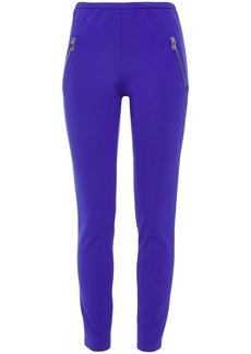 Emilio Pucci Woman Zip-detailed Stretch-ponte Leggings Royal Blue