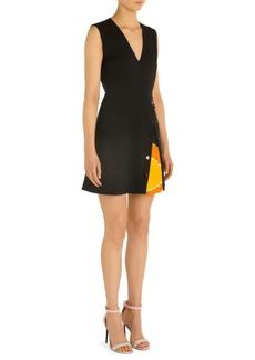 Emilio Pucci Wool & Silk V-Neck Dress