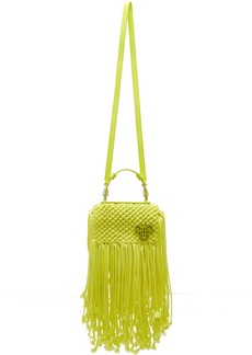 Emilio Pucci Yellow Fringed Logo Bag