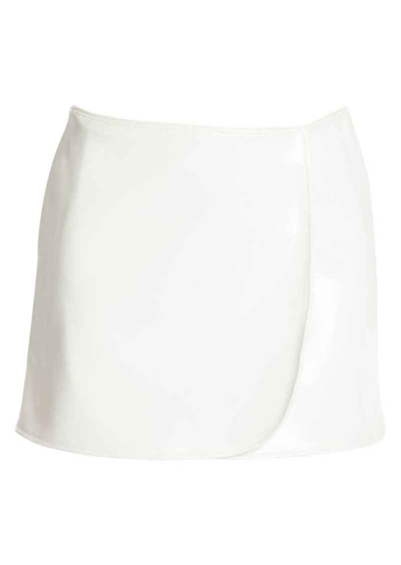 Emilio Pucci Faux Patent Leather Mini Skirt