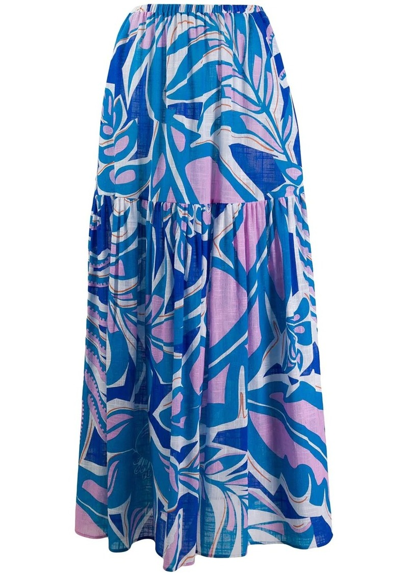 Emilio Pucci flared printed skirt
