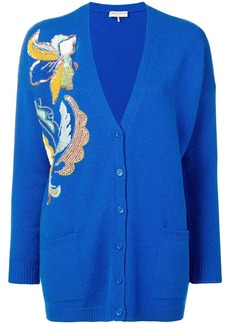 Emilio Pucci Floral Embroidered Cashmere Cardigan