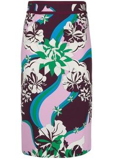 Emilio Pucci floral midi skirt