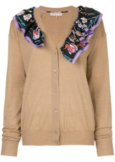 Emilio Pucci floral scarf trim cardigan