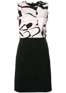 Emilio Pucci Fortuna Print Contrast Mini Dress