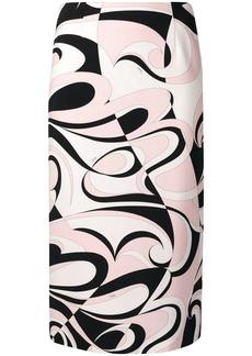 Emilio Pucci Fortuna Print Pencil Skirt