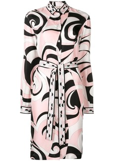 Emilio Pucci Fortuna Print Shirt Dress