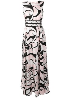 Emilio Pucci Fortuna Print Silk Maxi Dress