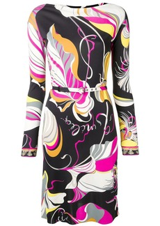 Emilio Pucci Frida Print Belted Dress
