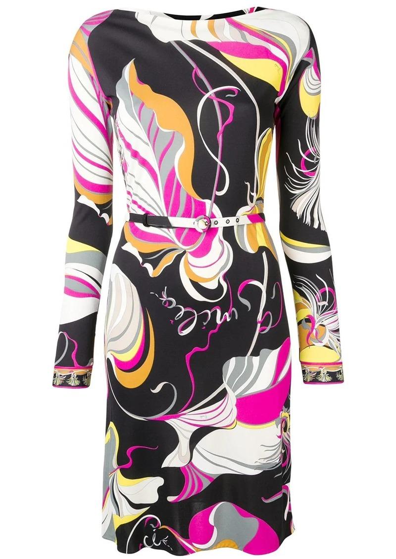 Emilio Pucci Frida Print Belted Dress