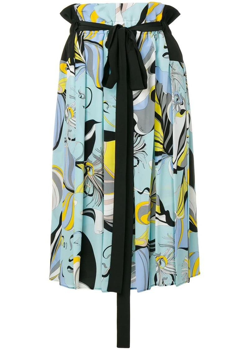 Emilio Pucci Frida Print Pleated Skirt