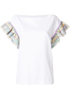 Emilio Pucci frilled-sleeve top