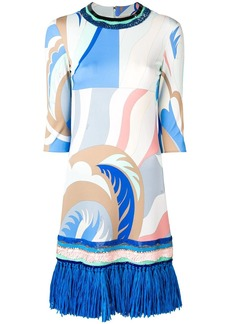 Emilio Pucci Fringed Acapulco Print Marylin Dress