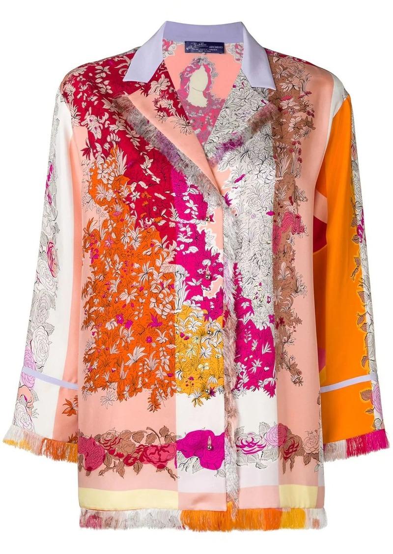 Emilio Pucci fringed floral shirt