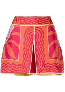 Emilio Pucci front panel geometric print shorts