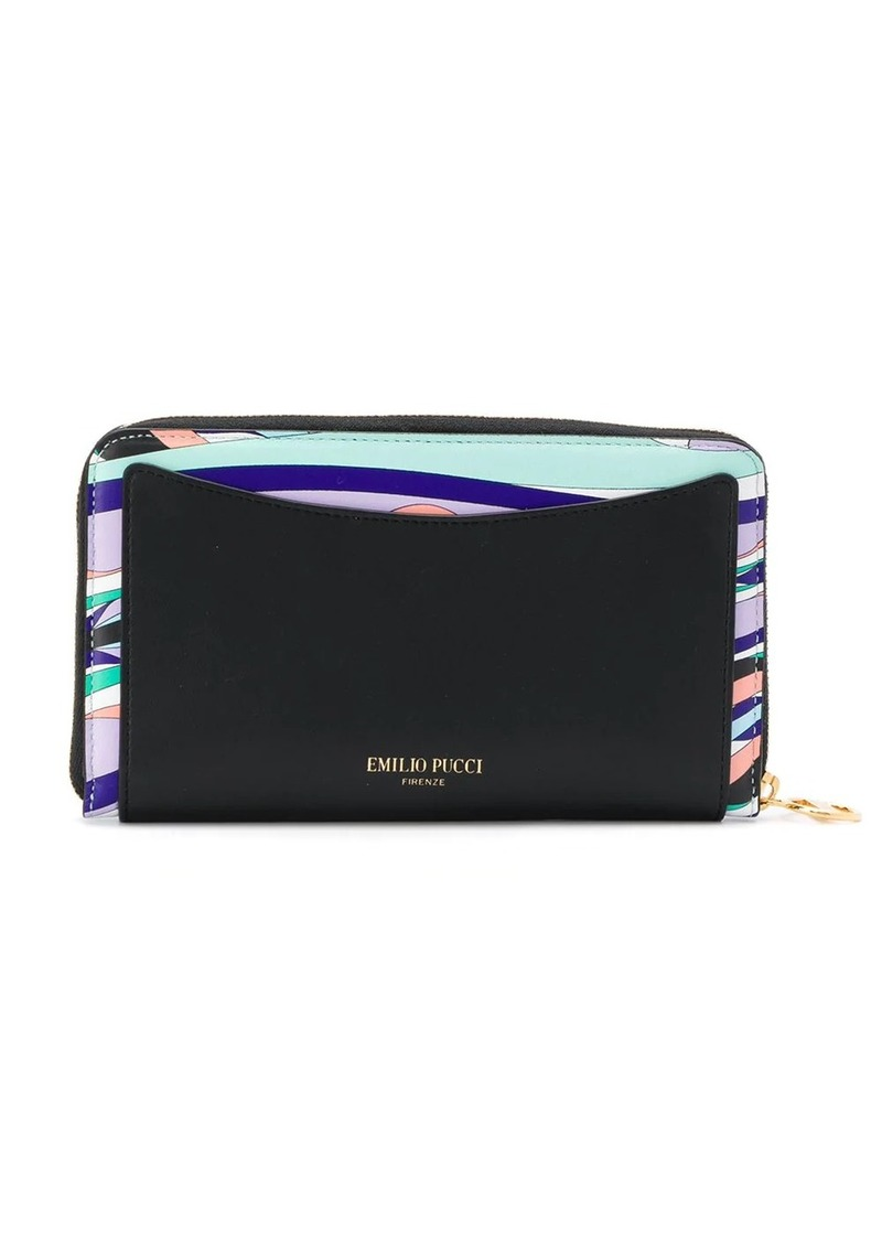Emilio Pucci geometric panelled zip wallet