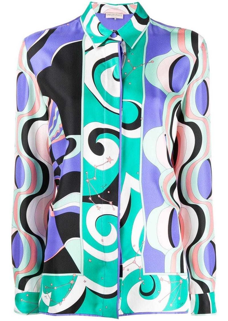 Emilio Pucci geometric pattern shirt