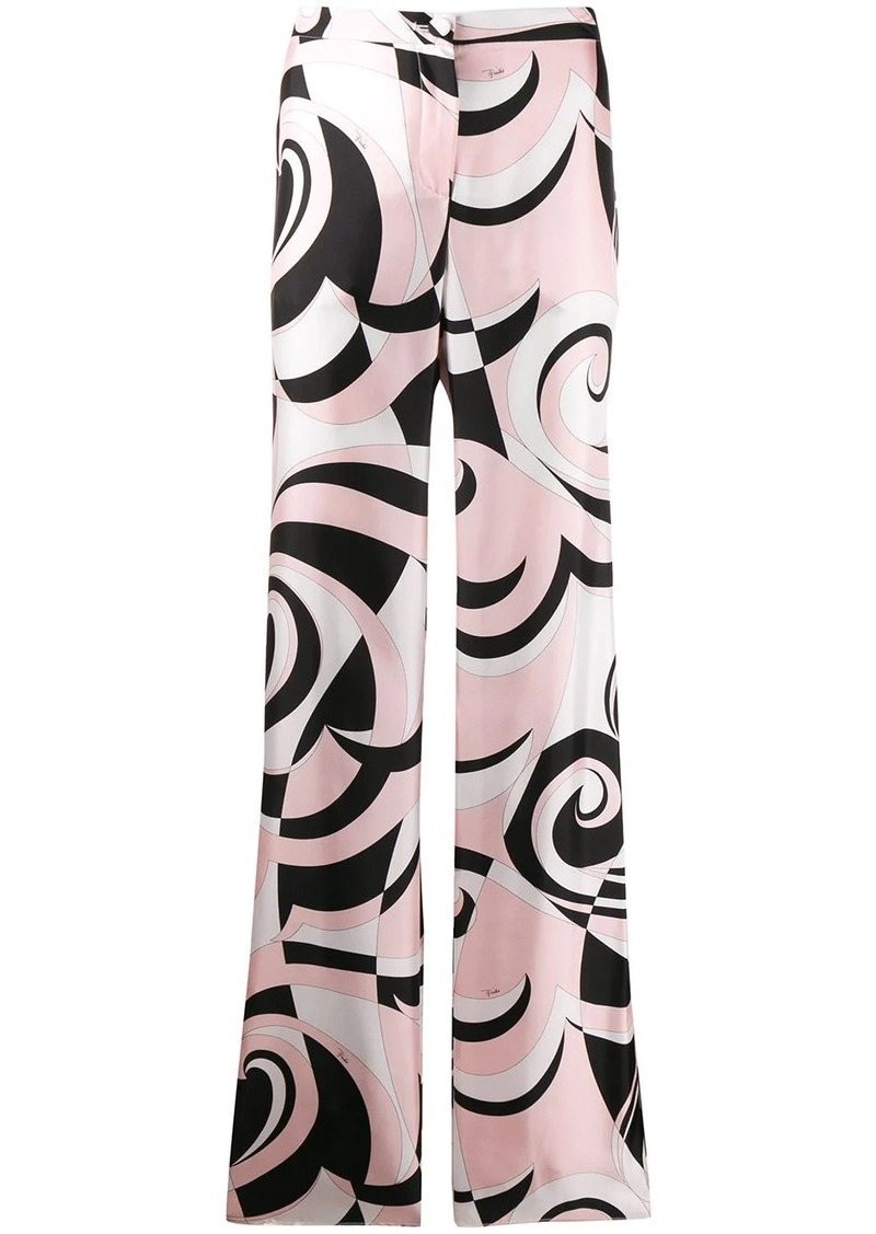 Emilio Pucci geometric pattern trousers