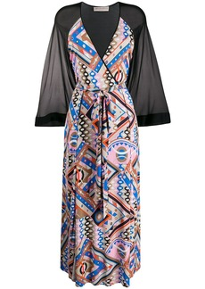 Emilio Pucci geometric print long dress