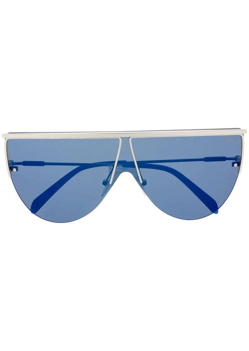Emilio Pucci geometric shield sunglasses