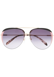 Emilio Pucci glitter-detail aviator-frame sunglasses