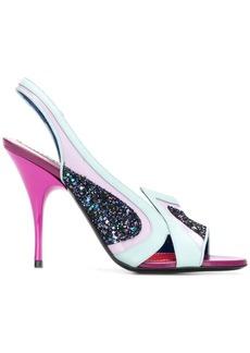 Emilio Pucci glitter sandals