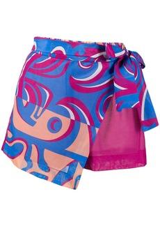 Emilio Pucci graphic print wrap front shorts