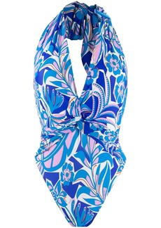 Emilio Pucci halter neck printed swimsuit